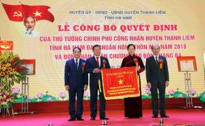Huyện Thanh Liêm (Hà Nam) đón nhận Quyết định đạt chuẩn nông thôn mới