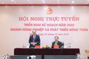 Thủ tướng dự, chỉ đạo Hội nghị trực tuyến triển khai kế hoạch năm 2020 ngành Nông nghiệp